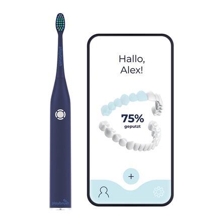 Playbrush Smart One Schallzahnbürste für Erwachsene mit gratis Mundhygiene-App, navy