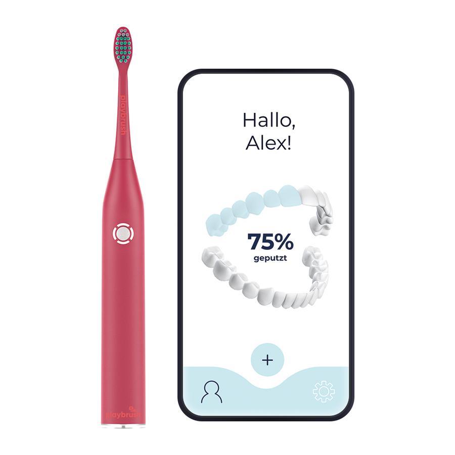 Playbrush Smart One Schallzahnbürste für Erwachsene mit gratis Mundhygiene-App, coral