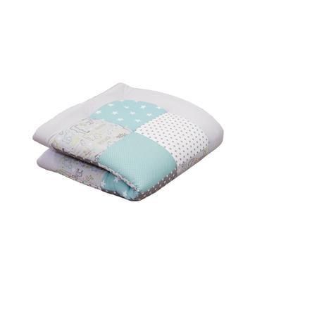 Ullenboom Crawling tæppe & legegrænsindsats 100X100 cm Safari Pebermynte