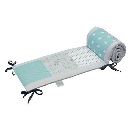 Ullenboom Patchwork-Nestchen für Babybett 120x60 cm Safari Pfefferminz (360 cm Rundum)