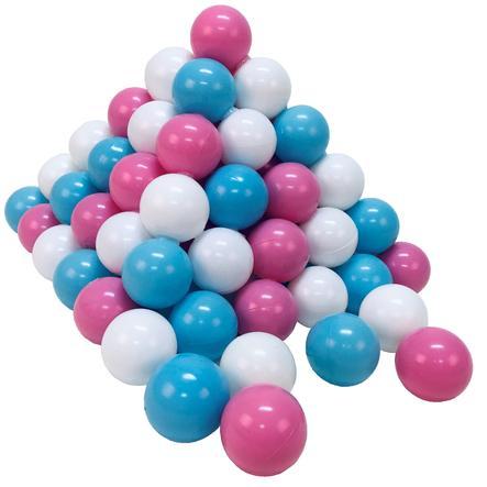 knorr® toys Set de balles enfant 100 balles rose/crème/bleu clair Ø6 cm