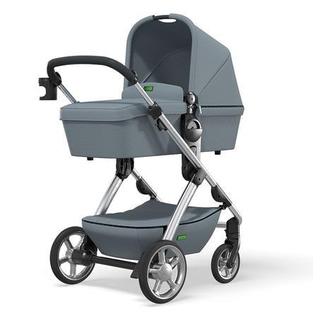 MOON Carro de bebé combi N°ONE Silver / Ocean Colección 2021