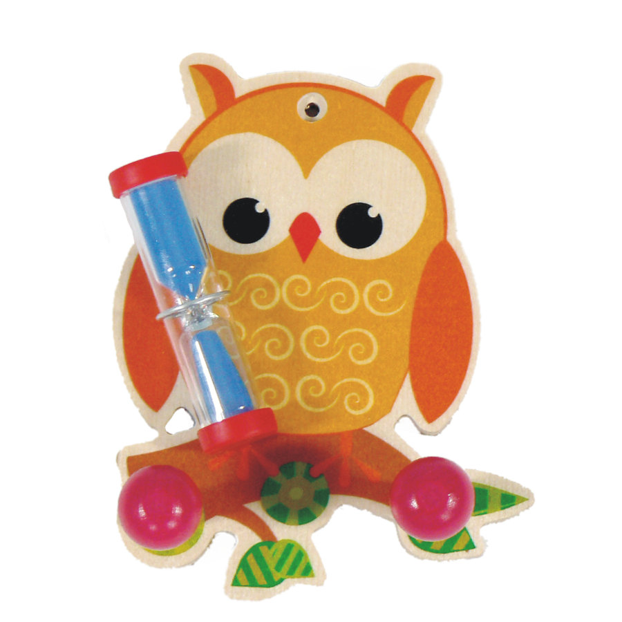 HESS Toothbrushing Timer - Owl with Towel Hooks
