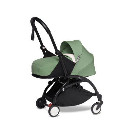 BABYZEN Kinderwagen YOYO2 0+ Black/Peppermint-grün