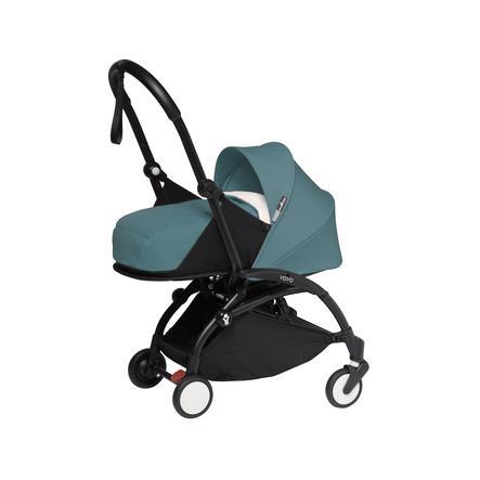 BABYZEN Kinderwagen YOYO2 0+ Black/Aqua
