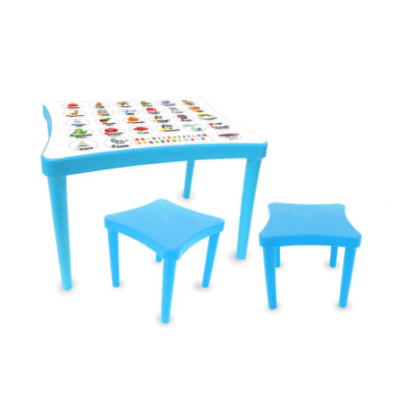JAMARA Ensemble table enfant et tabourets Easy learning bleu