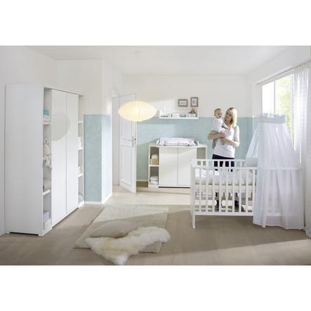 SCHARDT Maximo Blanc Chambre d'enfant, armoire 2 portes et étagères latérales