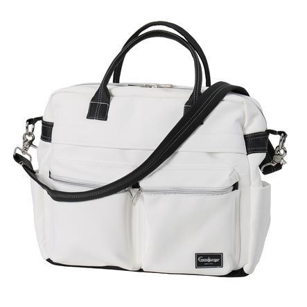 Emmaljunga Wickeltasche Travel Leatherette White Kollektion 2021
