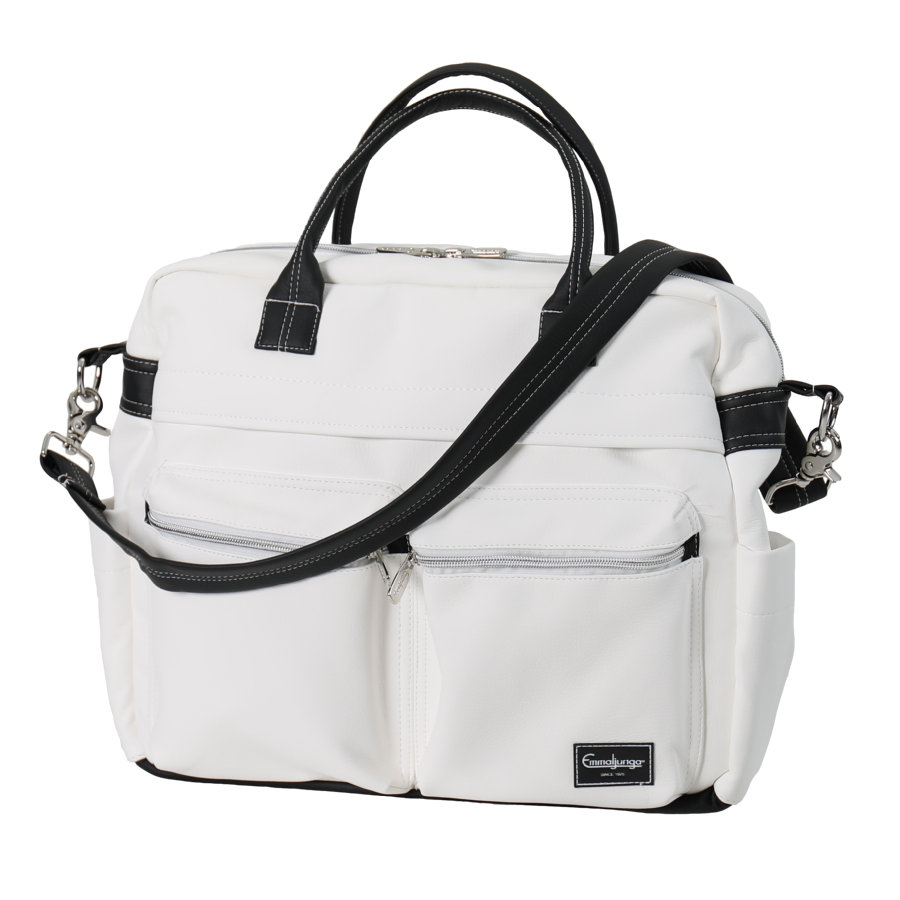 Emmaljunga Wickeltasche Travel Leatherette White