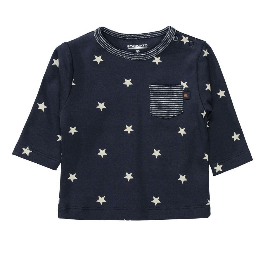 STACCATO Shirt dark blue gemustert