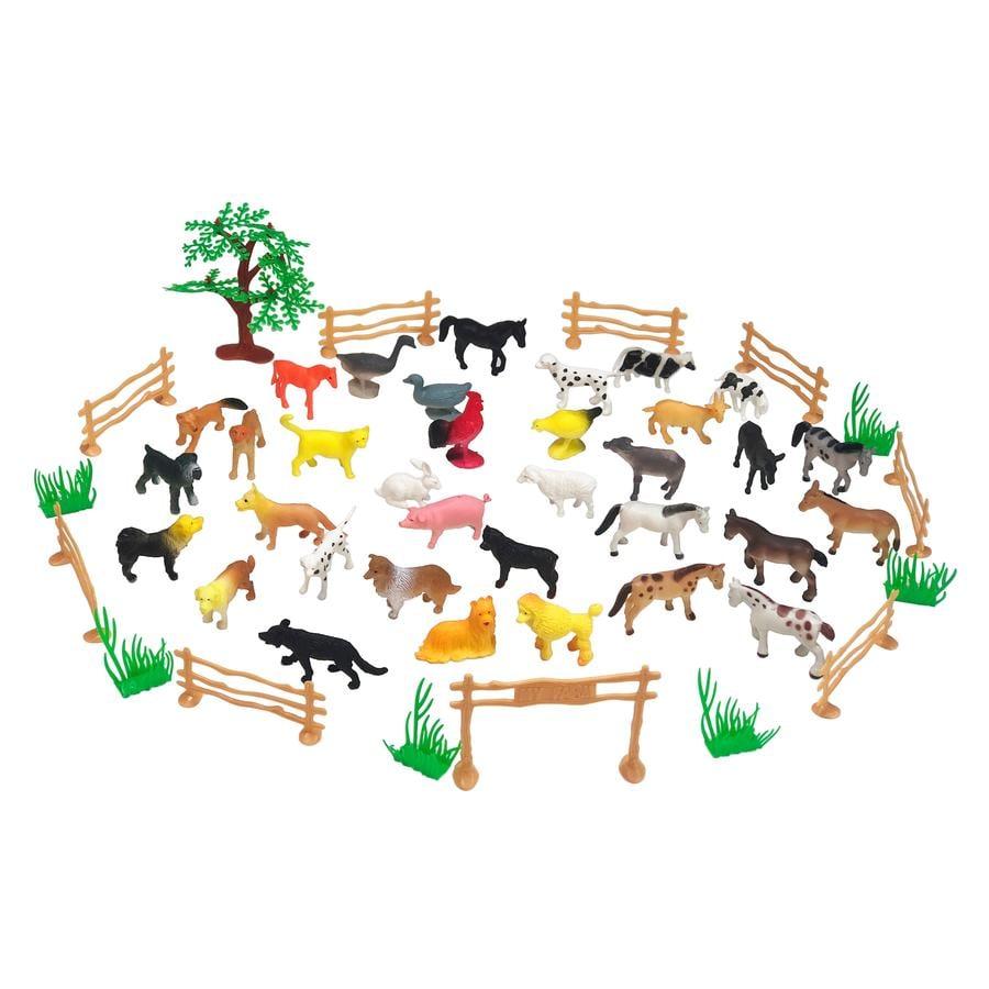 JAMARA Tierspielset Farm Animals 50-teilig
