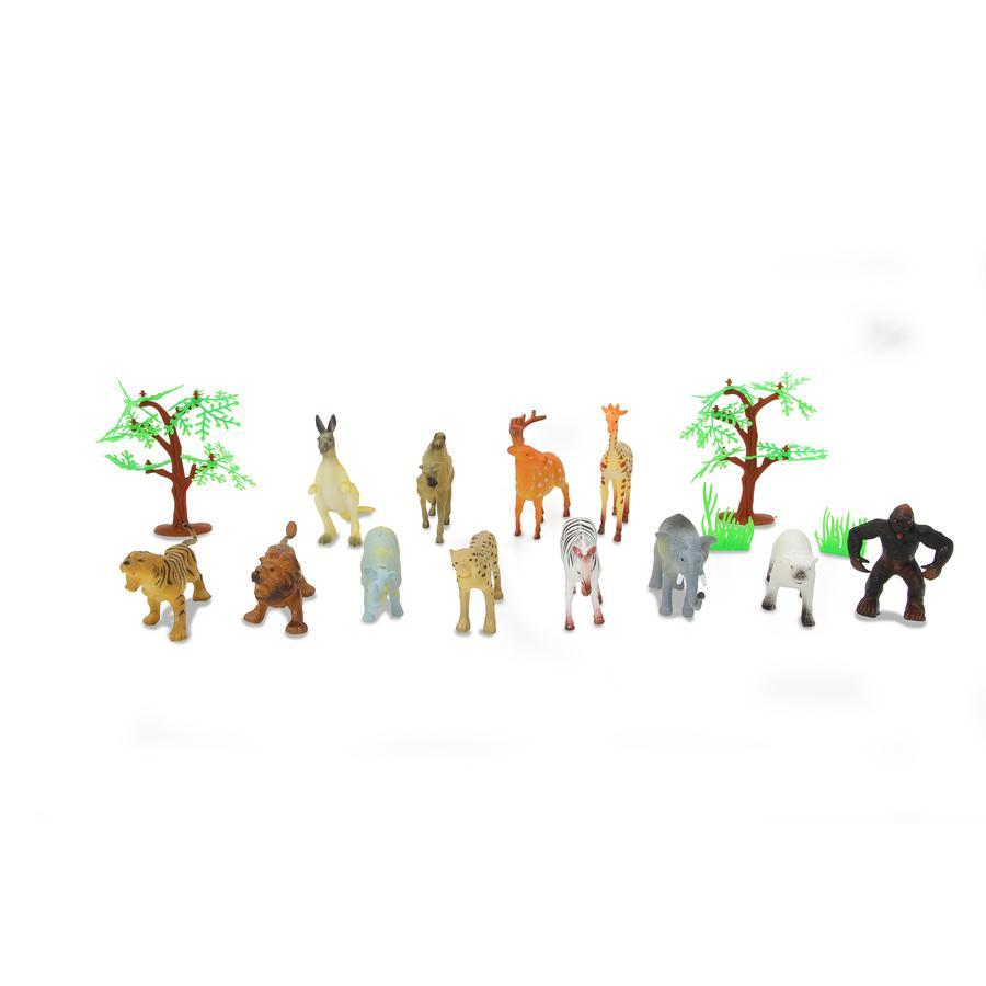 JAMARA Tierspielset Wild Animals 16-tlg.