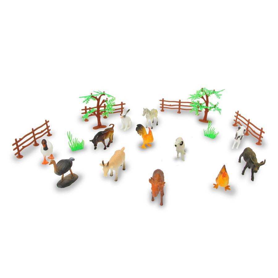JAMARA Tierspielset Farm Animals 20-teilig