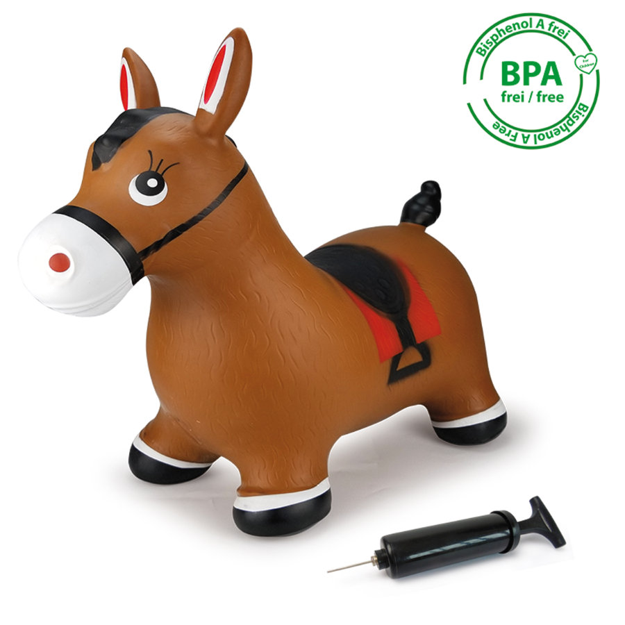 JAMARA hoppende hest inkl. pumpe, brun