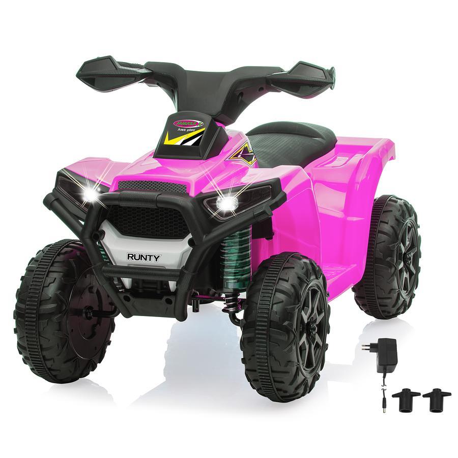 JAMARA Quad enfant électrique mini Ride-on Runty rose 6V