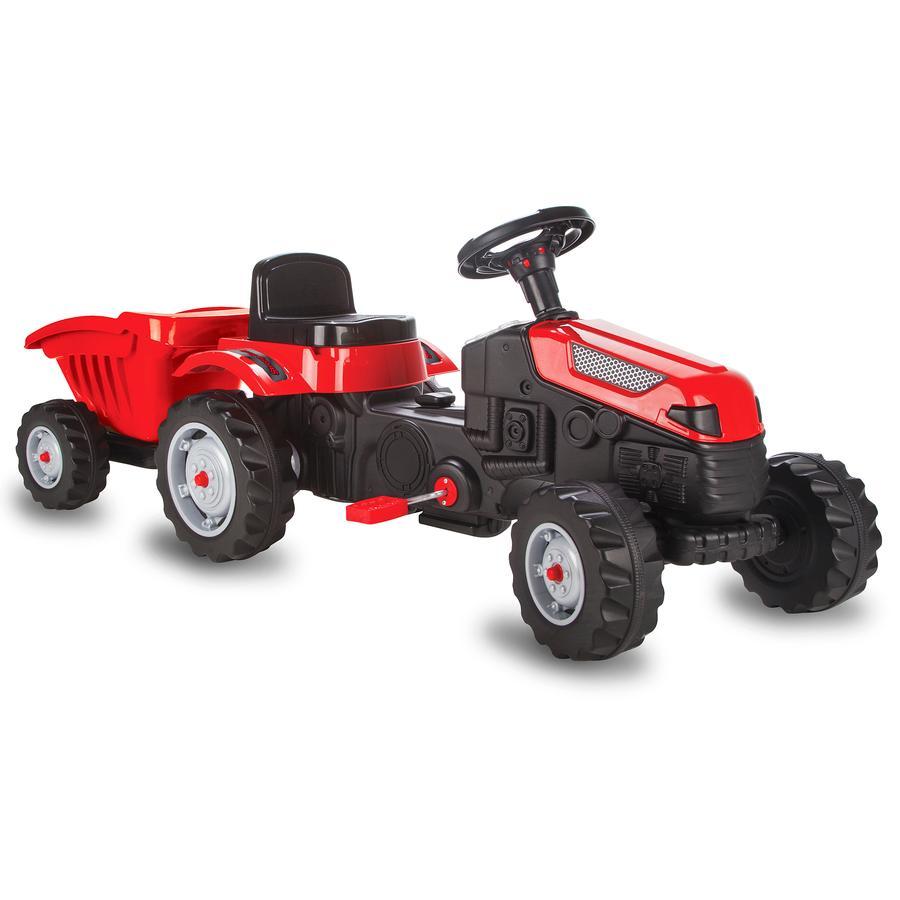 JAMARA Pedaltraktor til børn med bøjle Strong Bull rød