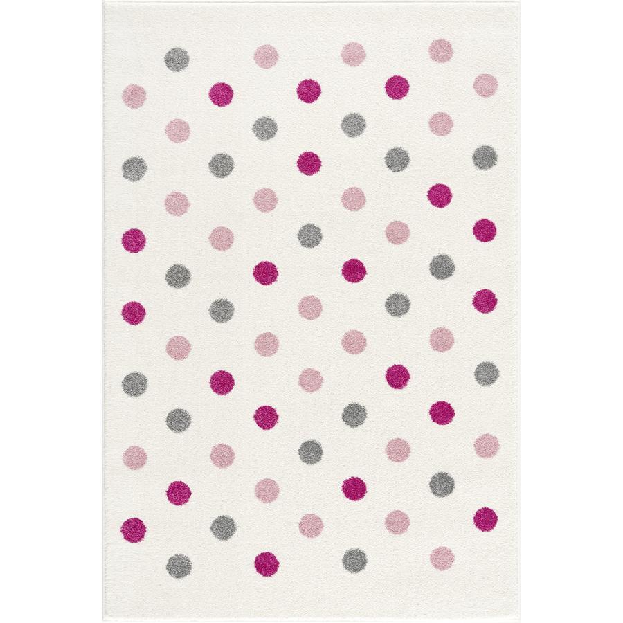 LIVONE Tapis enfant Happy Rugs Confetti gris argenté/crème/rose 100x160 cm