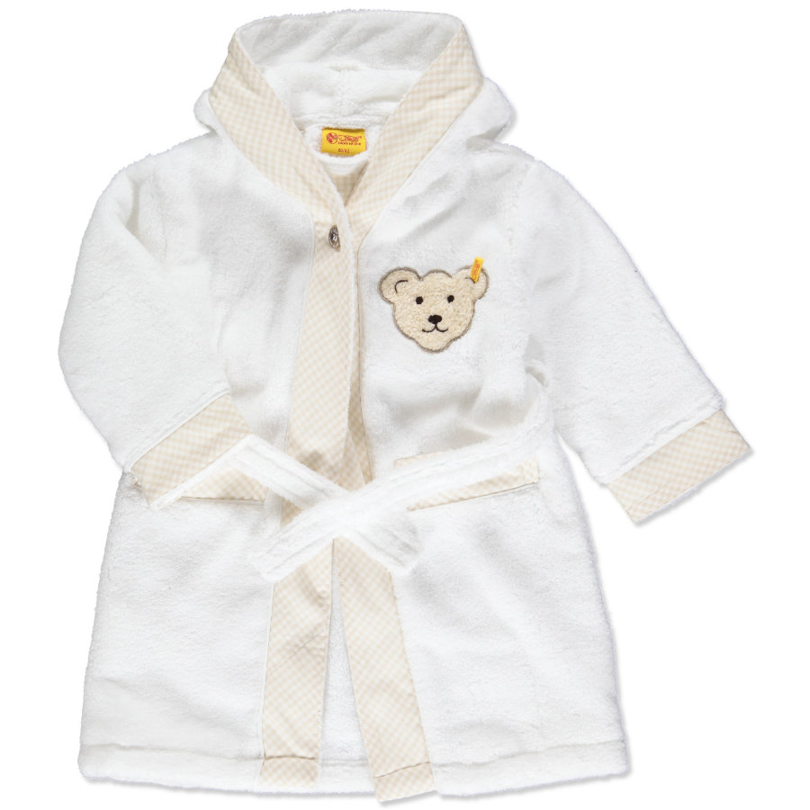 STEIFF Mini Bathrobe sand shell
