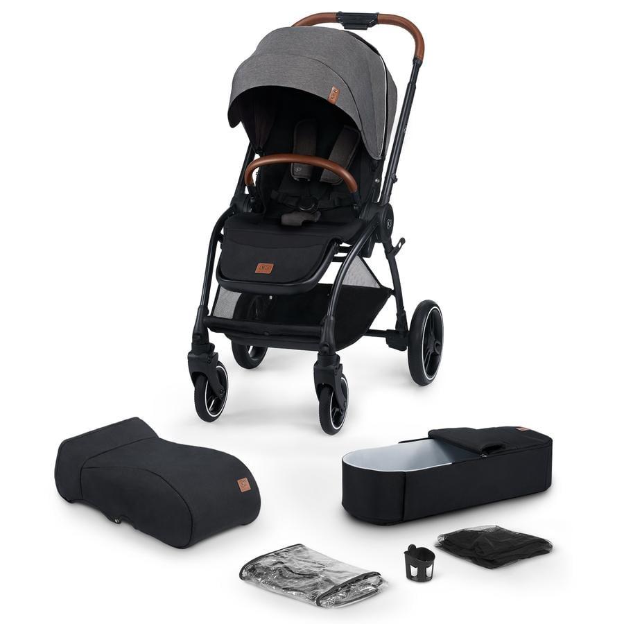 Kinderkraft Kinderwagen Evolution Cocoon 2 in 1 Platinum Grey