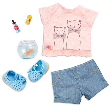 Our Generation Tenue pour poupée t-shirt chats, bocal poisson rouge