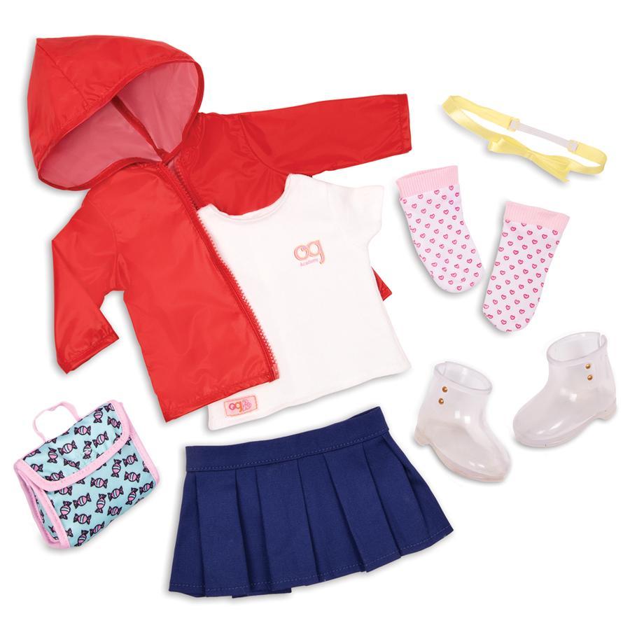 Our Generation - Outfit Regenmantel mit Gummistiefel