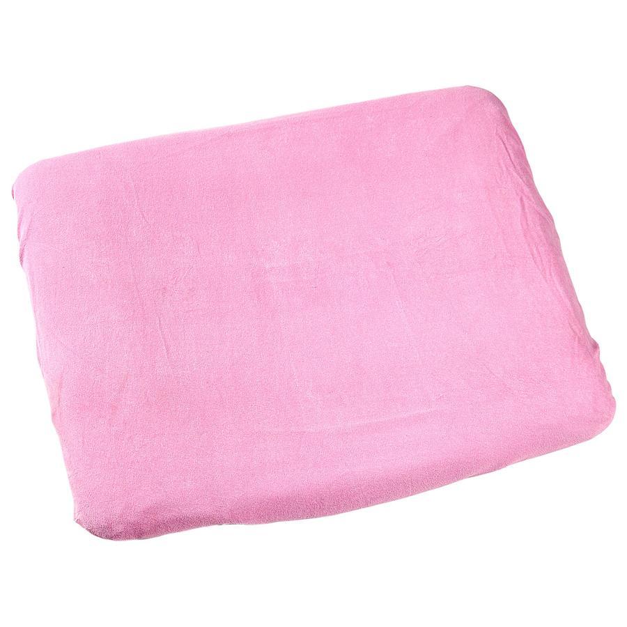 ODENWÄLDER Frotté Klädsel/överdrag till skötbädd 75x85 cm rosa