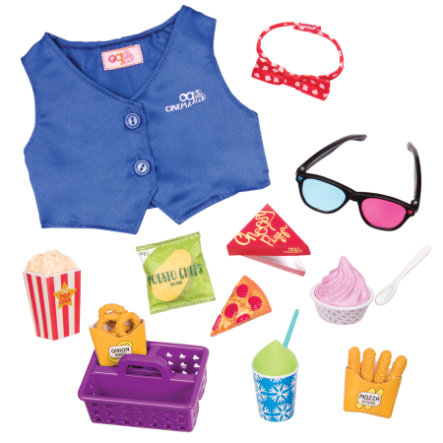 Our Generation - Outfit Kinobesuch mit Snacks