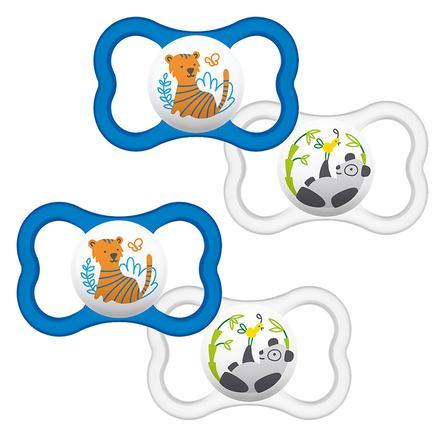 MAM Soother Air 6 - 16 meses de látex Tiger / Panda en paquete doble