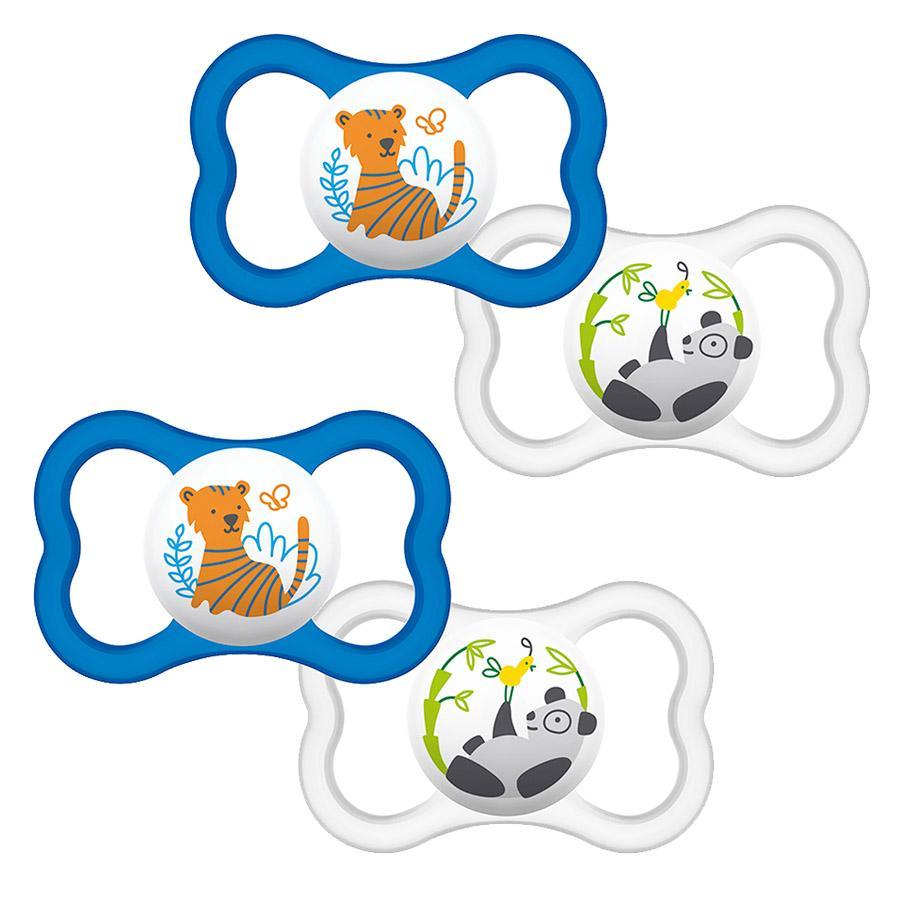 MAM Soother Air 6 - 16 maanden latex Tiger / Panda in dubbele verpakking