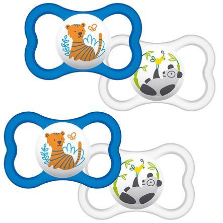 MAM Soother Air Silikon 6 - 16 maanden Tiger / Panda in een dubbele verpakking