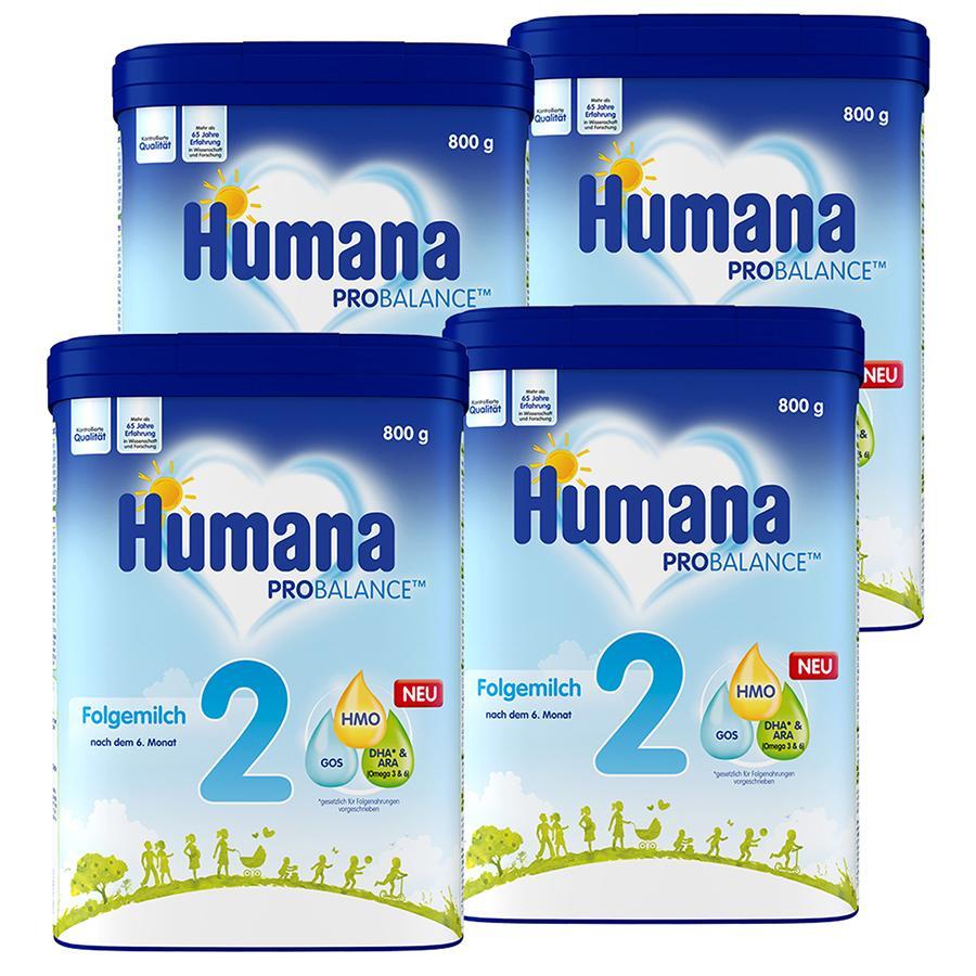 Humana Folgemilch 2 4 x 800 g nach dem 6. Monat