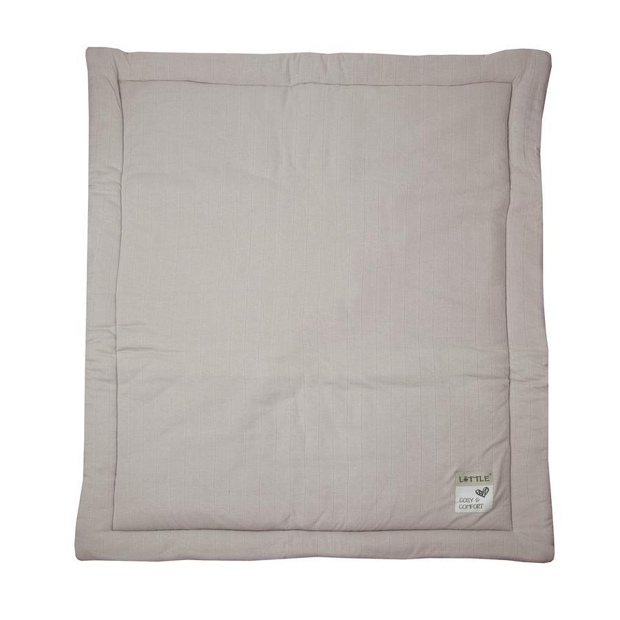 LITTLE  Kruipende deken Kubussen midi grijs 100 cm x 130 cm
