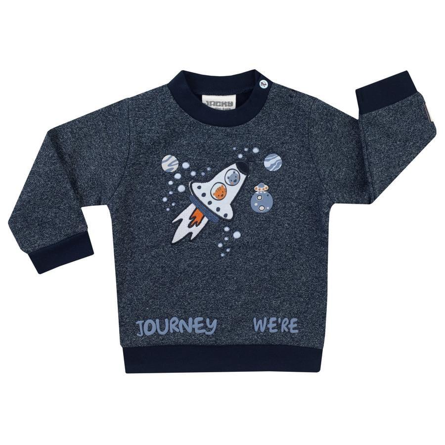 JACKY Sweatshirt SPACE JOURNEY bleu foncé melange