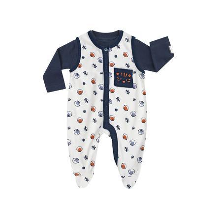 JACKY Grenouillère bébé et t-shirt manches longues SPACE JOURNEY motif all-over/bleu marine