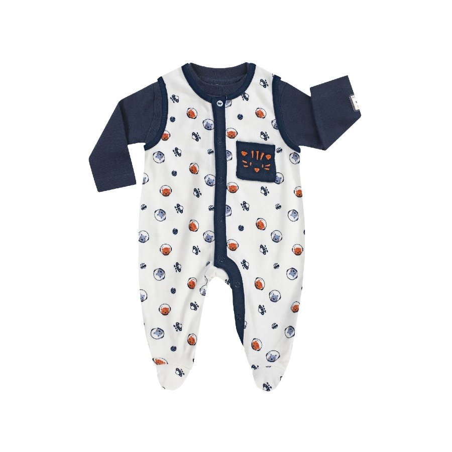 JACKY romper set SPACE JOURNEY allover gedrukt/ marine