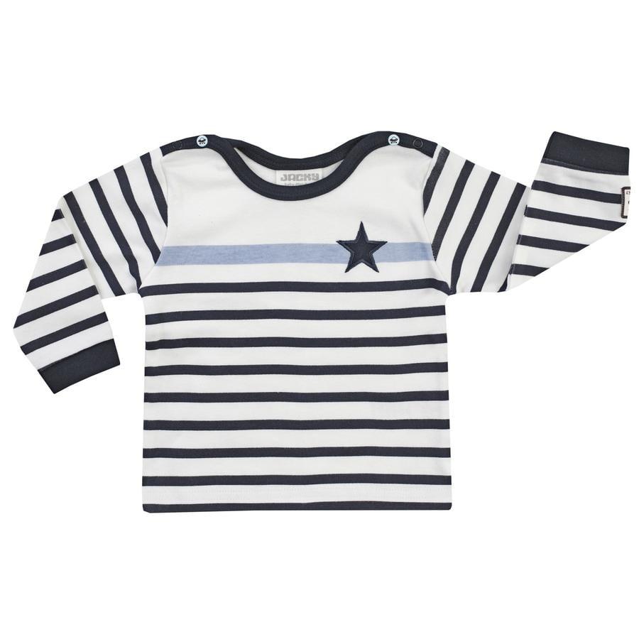 JACKY camicia a maniche lunghe Space Journey  off- white / strisce