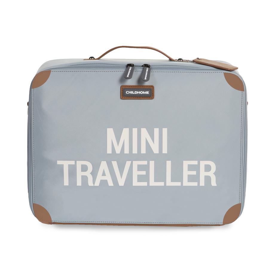 CHILDHOME Kinderkoffer Mini Traveller grau / altweiß