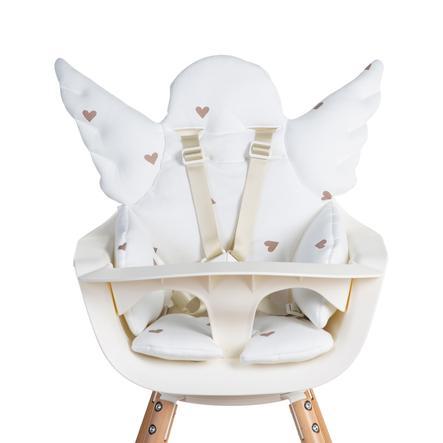 CHILDHOME Coussin d'assise de chaise haute universel ange Hearts