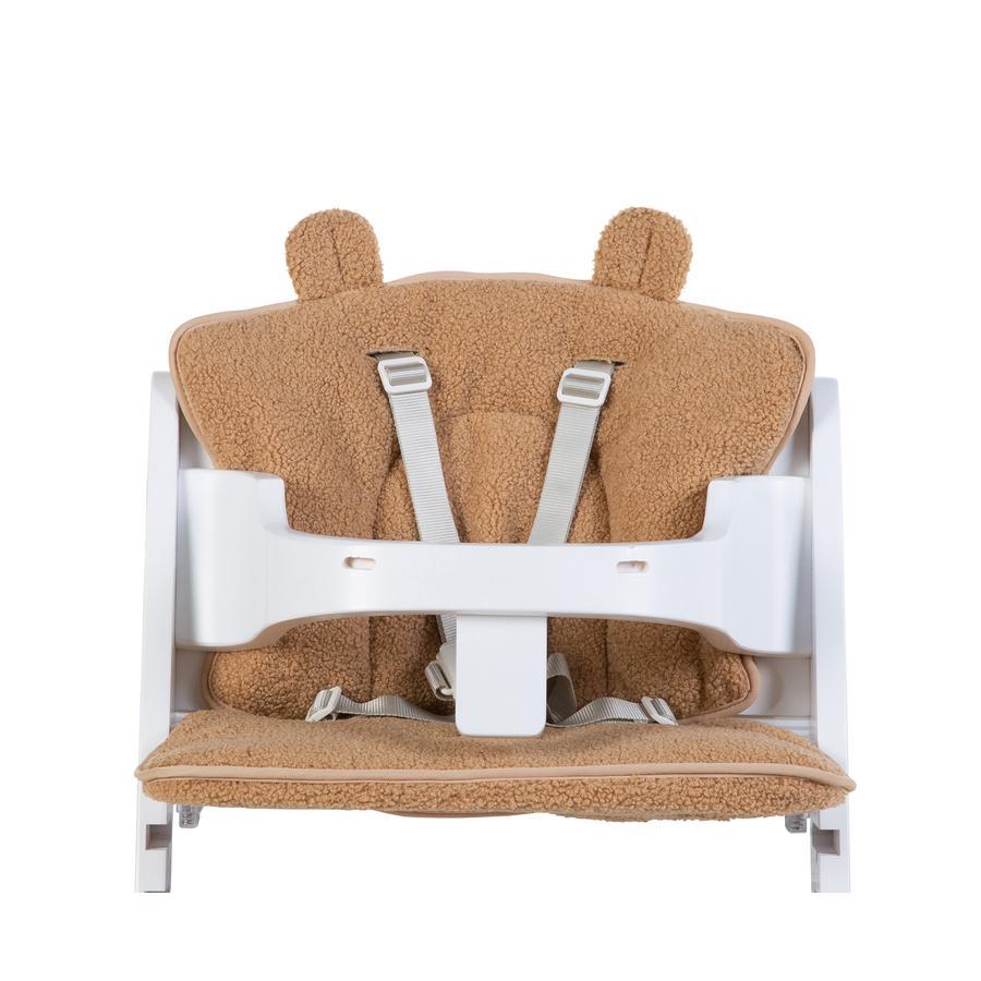 CHILDHOME Coussin d'assise pour chaise haute bébé Teddy beige