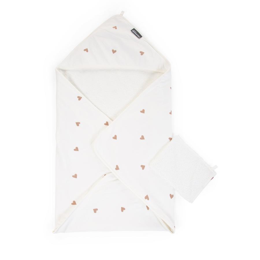 CHILDHOME Badehåndklæde inkl. vaskehandske Hjerte