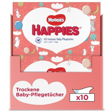 Huggies Lingettes bébé sèches Happies 10x100 pièces