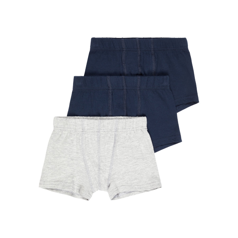 name it Boxershorts 3er Pack Grey Melange