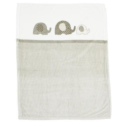 Alvi Microfaserdecke Elefant grau-weiss 75 x 100 cm