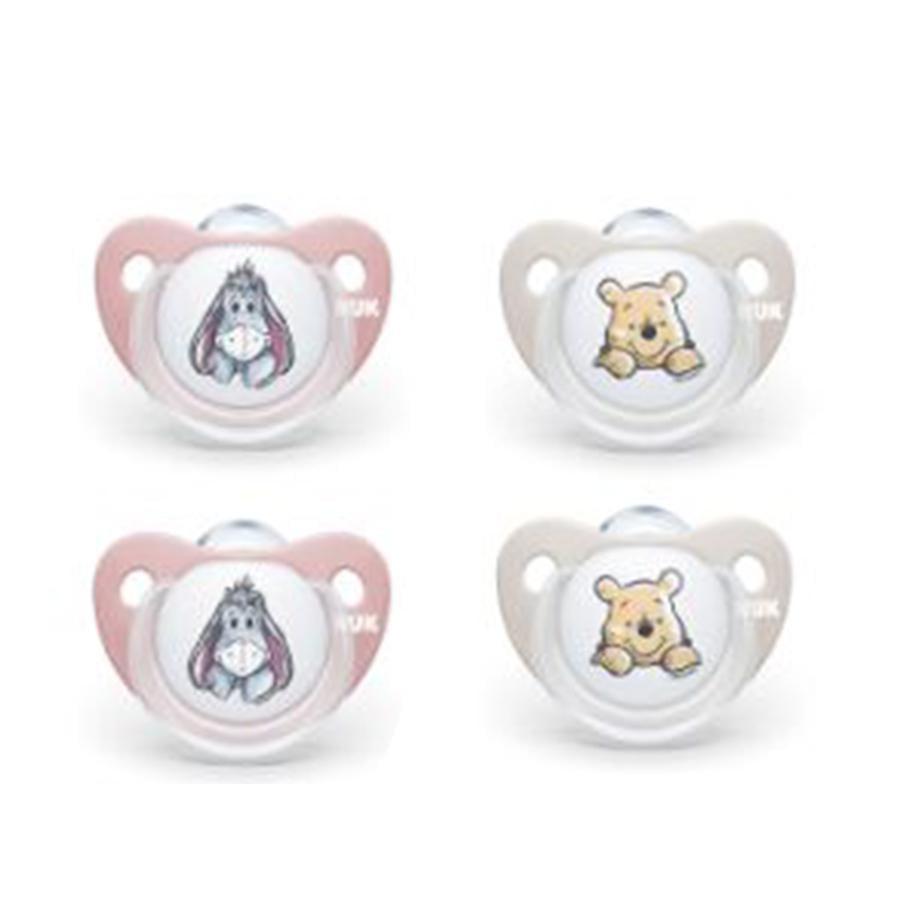 NUK Napp Trendline Disney Winnie the Pooh, Storlek 1, från födseln, 4 stycken