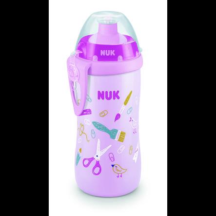 NUK Trinkflasche Junior Cup Girl mit Chamäleon Effekt, 300ml