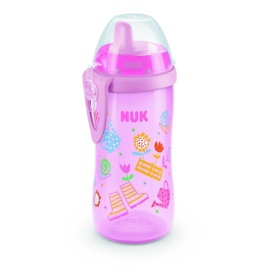 NUK Biberón Kiddy Cup Girl, 300ml