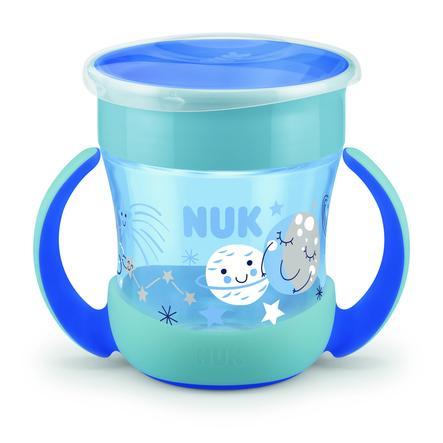 NUK Bottiglia da bere Mini Magic Bagliore nel Dark Boy in blu