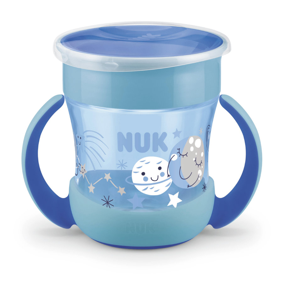 NUK Trinklernflasche Mini Magic Glow in the Dark Boy in blau