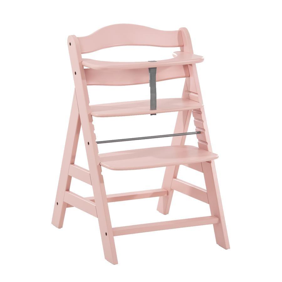 hauck Chaise haute enfant évolutive Alpha Plus bois, rose