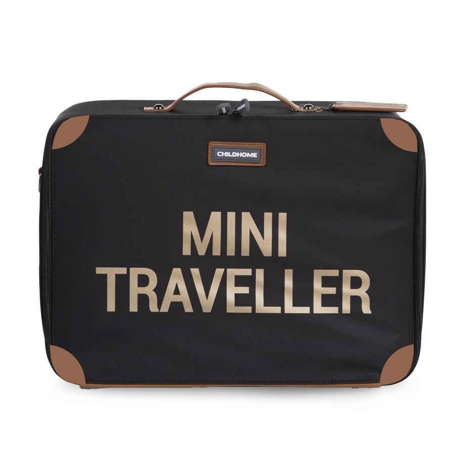 CHILDHOME Kinderkoffer Mini Traveller schwarz / gold